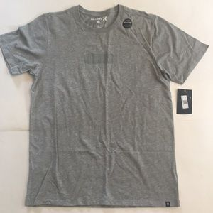 New Mens Hurley T Shirt With Reflective Logo